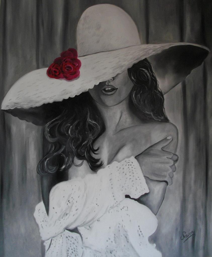 La femme au chapeau blanc