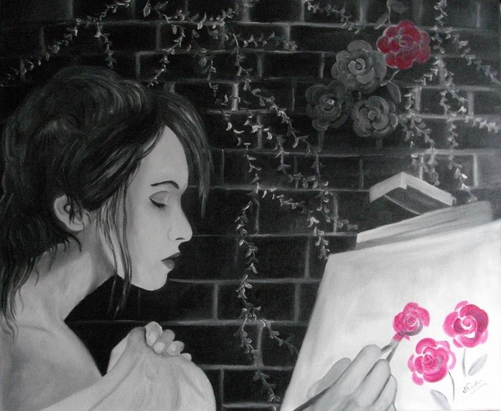 Peinture de rose